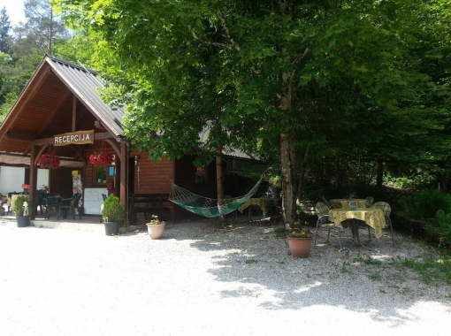 Entry to Camp Vodenca Bovec
