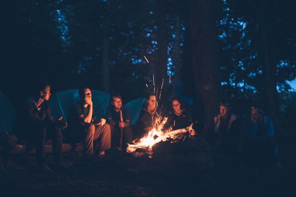Camp fire in Camp Vodenca