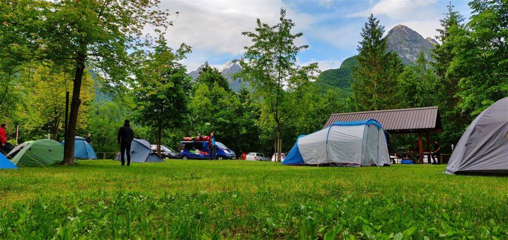 Camping in Bovec is a must